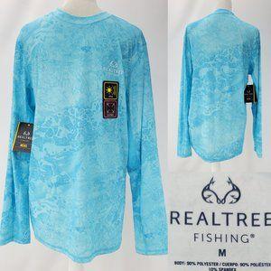 Realtree Wave Fishing Shirt UPF30 Wicking Shirt M